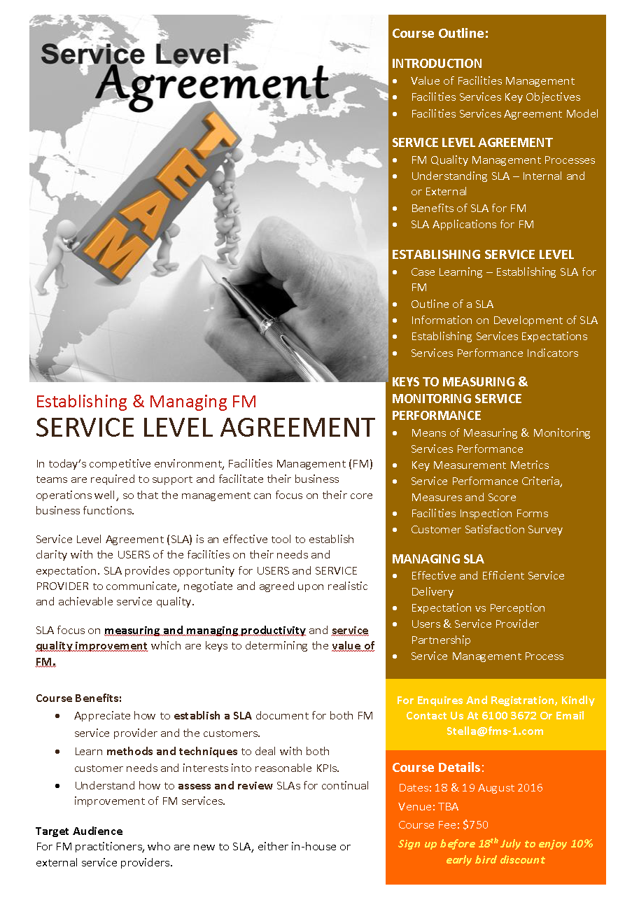 Home; Service Level Agreement